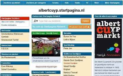 screenshot albert cuyp startpagina