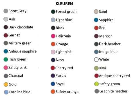 Gildan-Hoodies-kleuren