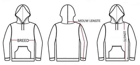 hoe meet ik de juiste hoodie maat