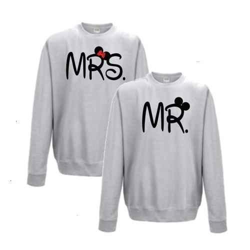Mr en Mrs Sweaters Bedrukte T shirts en Hoodies voor lage