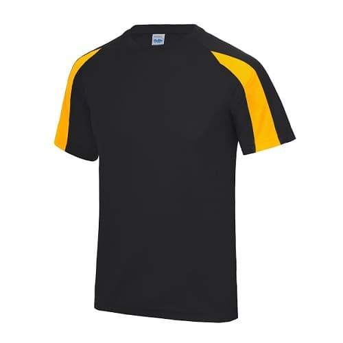 d14eed4d75fc Dri-Fit contrast heren shirt Jet black-Gold.