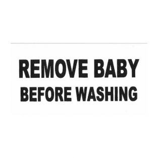 remove baby before washing baby t-shirt.
