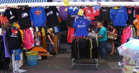 Marktkraam BBshirts Albert Cuyp