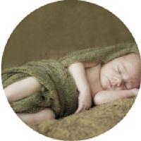 slapende baby voorbeeld bedrukking